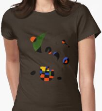 In The Style of Joan Miro Womens Fitted T-Shirt