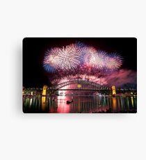 Sydney Fireworks 2011-12 Canvas Print