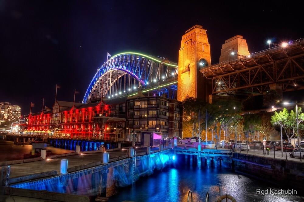 The Sydney Harbour Bridge at Vivid Sydney 2014 by Rod Kashubin