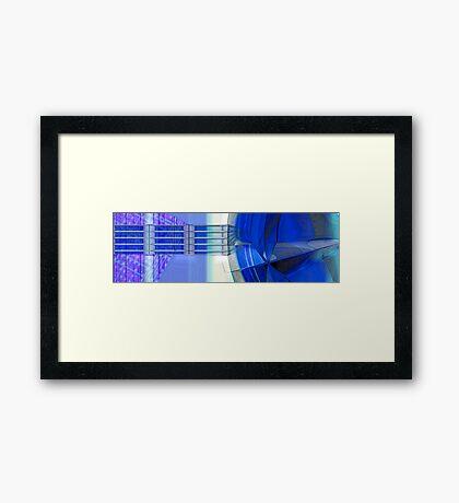 Blue Ribbons Framed Print