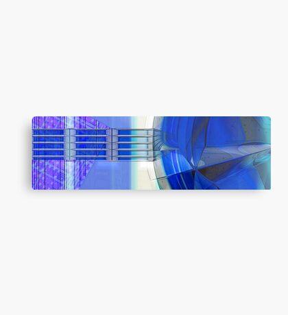 Blue Ribbons Metal Print