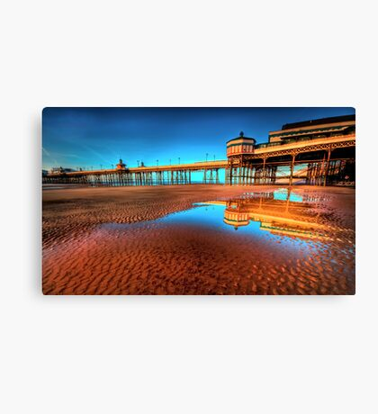 The Pier Goes On Canvas Print