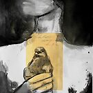 figure with bird by Loui  Jover