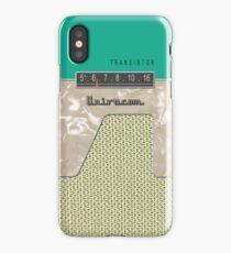 Vintage Transistor Radio - Green iPhone Case/Skin