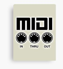 Midi Black Canvas Print