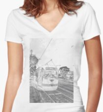 F-Line Women's Fitted V-Neck T-Shirt