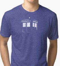 Tardis Outline Tri-blend T-Shirt