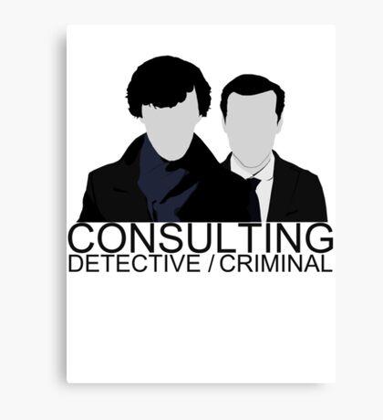 Consulting Detective/Criminal Canvas Print
