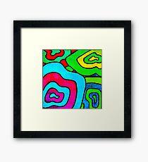 BINGE - Psychedelic artwork Framed Print