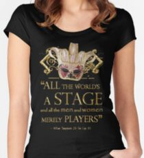 Shakespeare As You Like It Stage Quote Women's Fitted Scoop T-Shirt