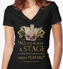 Shakespeare As You Like It Stage Quote Women's Fitted V-Neck T-Shirt
