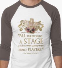 Shakespeare As You Like It Stage Quote Men's Baseball ¾ T-Shirt
