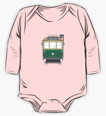 Melbourne Heritage Tram Baby Body Langarm