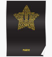 Mario Typography Poster