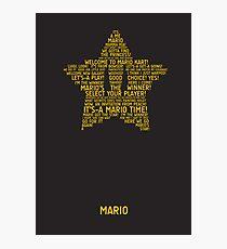 Mario Typography Photographic Print