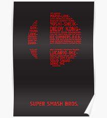 Super Smash Bros. Typography Poster