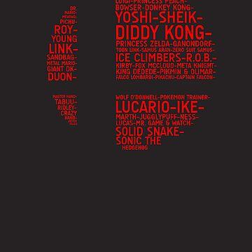 Super Smash Bros. Typography by TitanVex