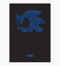 Sonic Typography Photographic Print