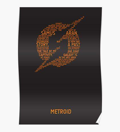 Metroid Typography Poster