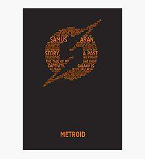 Metroid Typography Photographic Print