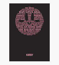 Kirby Typography Photographic Print