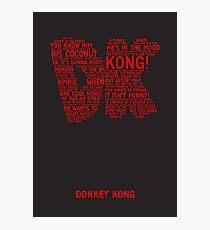 Donkey Kong Poster Photographic Print