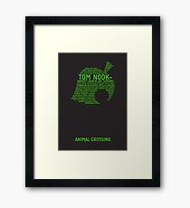 Animal Crossing Typography Framed Print