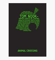 Animal Crossing Typography Photographic Print