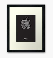 Apple Typography Framed Print