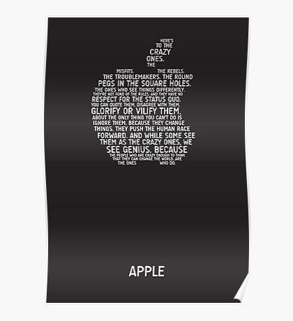 Apple Typography Poster