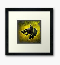 Wolf Icon Framed Print