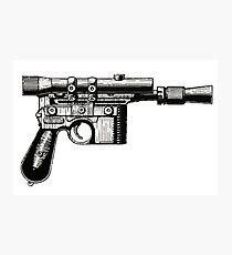 Han Solo's Blaster Stencil Photographic Print