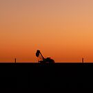 Sun Setting over Coober Pedy by Vincent Bayliss