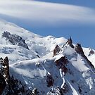 Summit of Mont Blanc and L'Aiguille Du Midi by John Gaffen