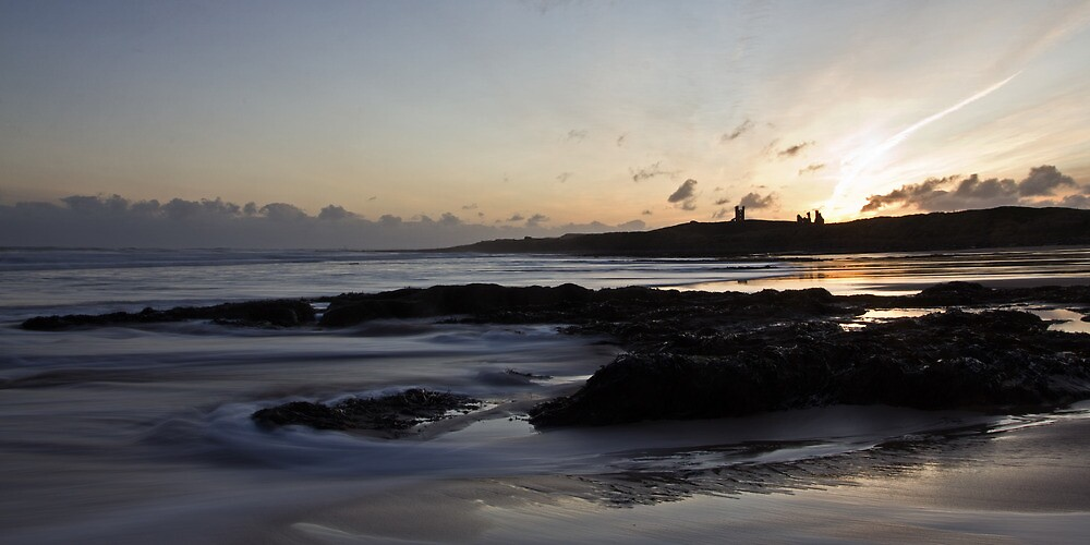 Dunstanburgh Castle Sunrise by David Pringle