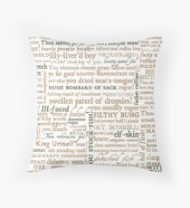 Shakespeare's Insults Collection - Revised Edition (by incognita) Throw Pillow