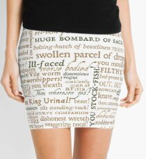 Shakespeare's Insults Collection - Revised Edition (by incognita) Mini Skirt
