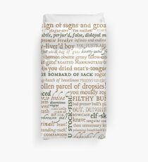 Shakespeare's Insults Collection - Revised Edition (by incognita) Duvet Cover
