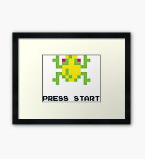 FROGGER RETRO PRESS START ARCADE TSHIRT Framed Print