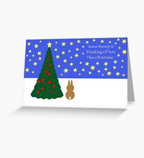 Some Bunny Christmas (With Tree & Stars) Greeting Card