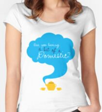Bit of a Domestic Women's Fitted Scoop T-Shirt