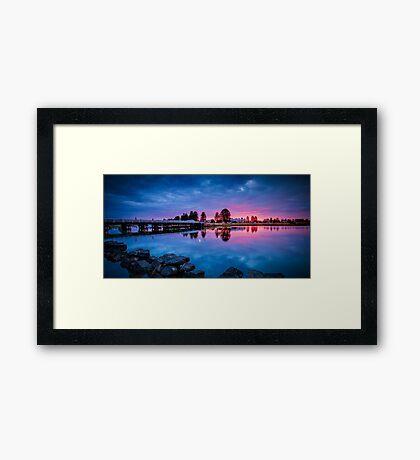 Moyne River Sunset 2 Framed Print