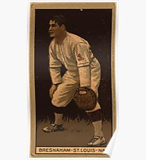 Benjamin K Edwards Collection Bresnahan St Louis Cardinals baseball card portrait Poster