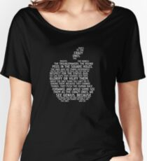 Apple Typography Women's Relaxed Fit T-Shirt