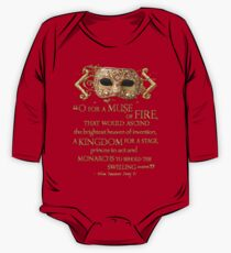 Shakespeare Henry V Muse Quote One Piece - Long Sleeve