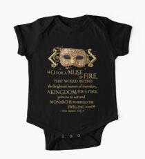 Shakespeare Henry V Muse Quote One Piece - Short Sleeve
