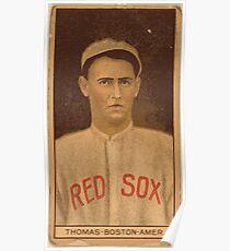 Benjamin K Edwards Collection C D Thomas Boston Red Sox baseball card portrait Poster