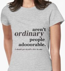 ordinary people Womens Fitted T-Shirt