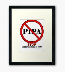 STOP PIPA Framed Print