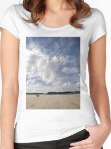 Walking Keadue Beach Donegal Ireland Women's Fitted Scoop T-Shirt